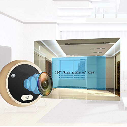 Wireless Digital Door Viewer & Video Doorbell WiFi Peephole Camera Night Vision Motion Detection Security Monitor 120° Wide Angle Lens Viewing for Front Door by Fxwj (Image #1)