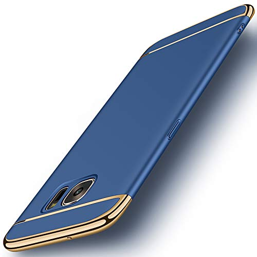 Galaxy S7 Case, NAISU Galaxy S7 Back Cover, Ultra Slim & Rugged Fit Shock Drop Proof Impact Resist Protective Case, 3 in 1 Hard Case for Samsung Galaxy S7 - Blue