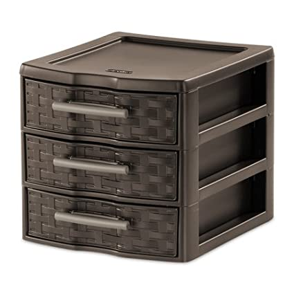 Charmant Sterilite Small 3 Drawer Weave For Kitchen, Bathroom, Garage, Office