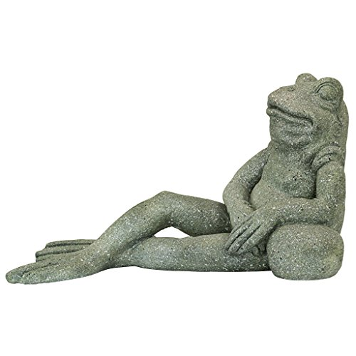 Toad Sculpture - Design Toscano FU84648 The Most Interesting Toad in The World Frog Garden Statue Outdoor, One Size, Gray