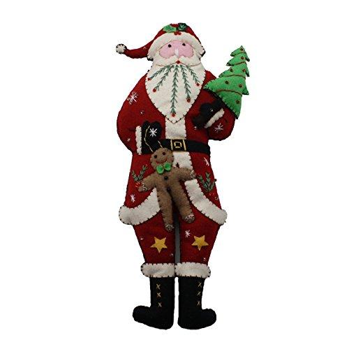 Vintage Style Christmas Plush Doll (Santa)]()