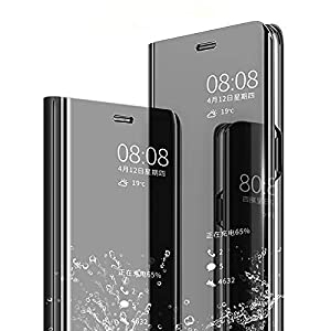 Jotech® Mirror View Flip Cover for Xiaomi Redmi Note 10s [Black]