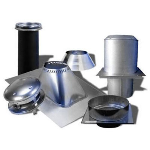 Selkirk Metalbestos 6T-FCK Stainless Steel Flat Ceiling Support Kit, 6-Inch (Stove Kit Pipe)