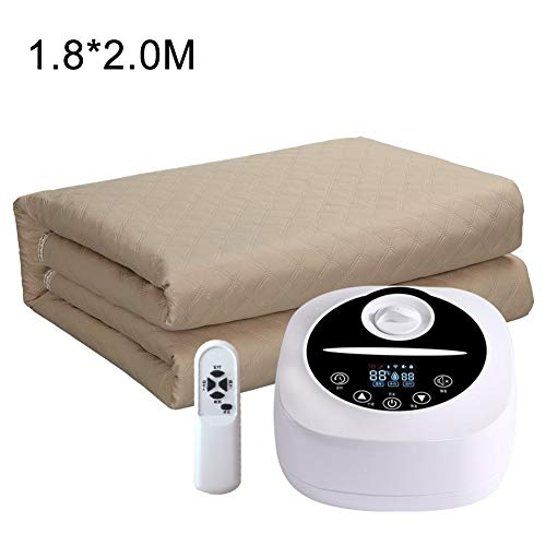Buzhong Water Heated Mattress Pad, Water Heated Mattress with Remote Control, Electric Water Cycle Blanket, Water Shortage Warning, 77-149℉|70.86″ 78.74″