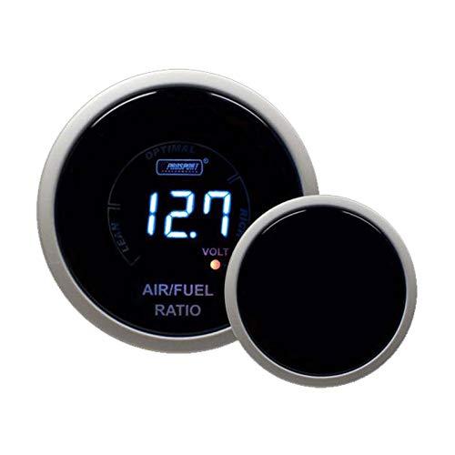 (Narrowband Air Fuel Ratio + Volt Gauge Kit -Blue Digital Display)