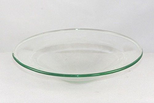 4.0 Round Replacement Electric Oil Aromatherapy Burner Clear Glass Dish by Spa Candles & Scents (Burner Replacement Oil)
