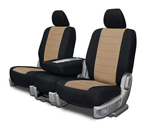 Custom Fit Seat Covers for Ford F-150 60-40 Style Seat Beige Neoprene Fabric
