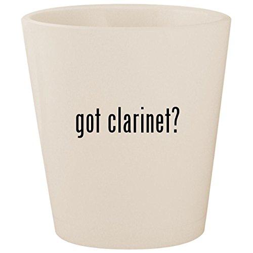 (got clarinet? - White Ceramic 1.5oz Shot Glass)