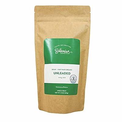 Bohemian Coffee Club UNLEADED (12 0z) Decaffeinated Premium Whole Bean Coffee