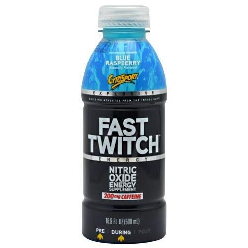 CytoSport Fast Twitch RTD - Blue Raspberry - Nitric Oxide Booster - 12 - 16.9 fl oz (500ml) Bottles
