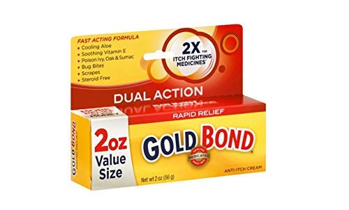 Gold Bond Medicated Anti-Itch Cream, 2-Ounce Tubes (Pack of 3) by Gold Bond