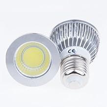Lemonbest® 2 pcs Energy Saving 6W LED Spot Light Bulb Dimmable COB LED E26 E27 Standard Screw Base 35W Incandescent Equivalent Cool White