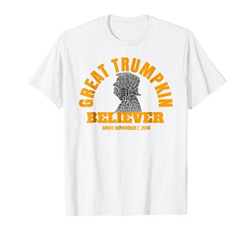 Trump Halloween Tshirt, Great Trumpkin Believer, Funny ()