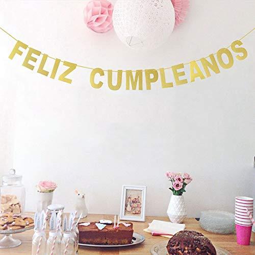 Amazon.com: Feliz Cumpleanos Decorations Set, Feliz ...