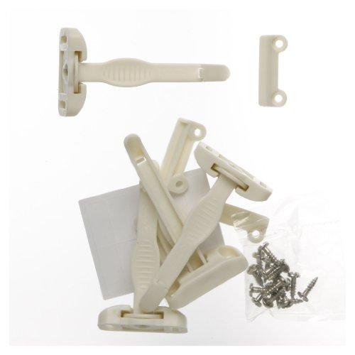 Safety 1st Press N' Pivot Latch White 4 / Pack by Safety 1st (Image #2)