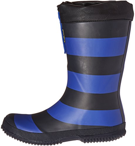 Pictures of Joules Kid's Winter Welly Rain Boot Slate Blue Stripe 5