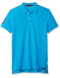 U.S. Polo Assn. Mens Standard Short Sleeve Slim Fit Solid Pique Polo Shirt