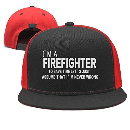 I Am A Firefighter Gift for Firefighter Unisex Plain Caps Baseball Caps Vintage Snapbacks ()