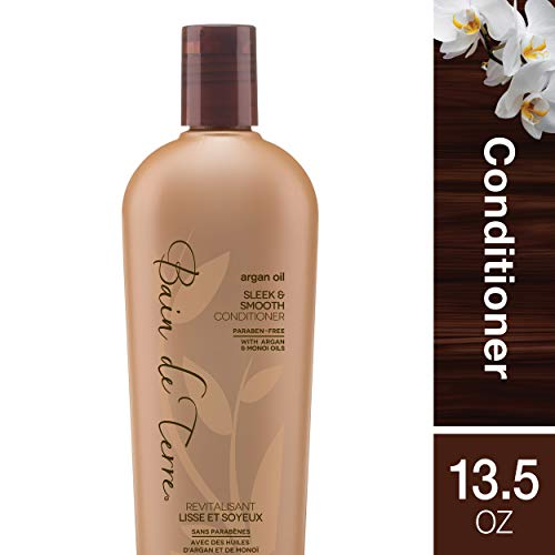 (Bain de Terre Argan Oil Sleek and Smooth Conditioner, with Argan and Monoi Oil, Paraben-Free,)