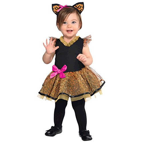 Suit Yourself Cutie Cat Costume for Babies, Size 6 Months to 12 Months, Includes a Tutu Dress and a Cat Ear Headband
