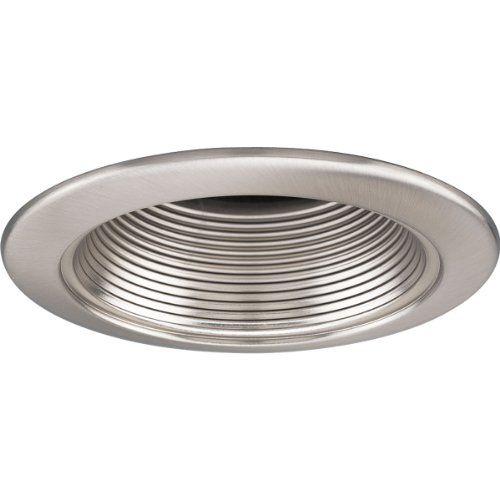 - Progress Lighting P8037-09 4-Inch Open Baffle Trim, Brushed Nickel