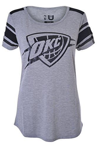 UNK NBA Women's T-Shirt Box Out Varsity Stripe Tee Shirt, Team Logo Gray – DiZiSports Store