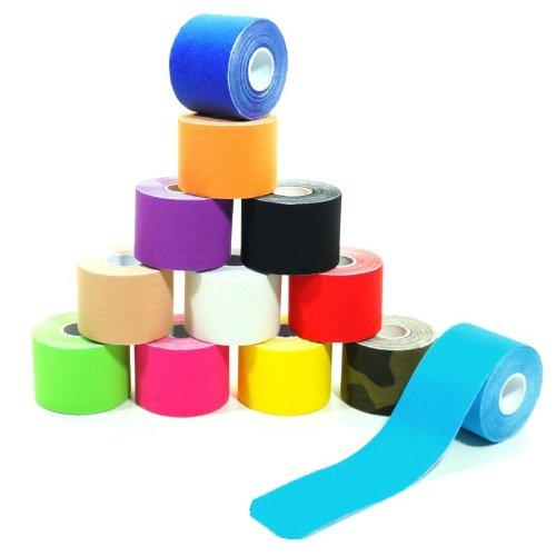 6 Rollen Kinesiologie Tape 5 m x 5,0 cm in 12 Farben, Farbe:pink