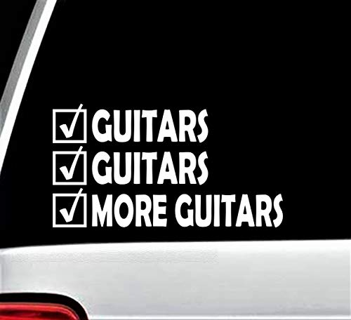 More Guitars Guitar Decal Sticker for Car Window 6.0 Inch BG 230