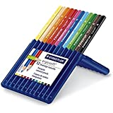 Staedtler Ergosoft Colored Pencils, Set of 12 Colors in Stand-up Easel Case (157SB12)