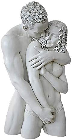 Design Toscano Engulfing Embrace Wall Sculpture, Antique Stone