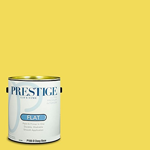 Prestige Paints Interior Paint and Primer In One, 1-Gallon, Flat,  Comparable Match of Benjamin Moore St. Elmo'S Fire