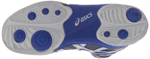 ASICS Men's Split Second 9 Wrestling Shoe,Graphite/Silver/Royal,12 M US