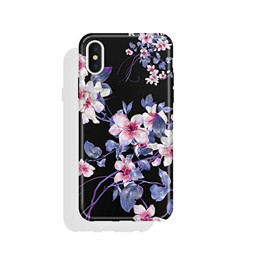Vintage Cover - iPhone X & iPhone Xs Case Vintage Floral, Akna Charming Series High Impact Silicon Cover with HD Graphics for Both iPhone X and iPhone Xs (101544-U.S)