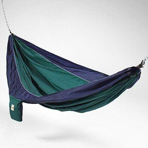 Hammaka Parachute Silk Lightweight Portable Double Hammock In Blue / Green