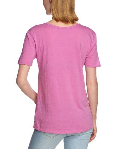 Bobi - Camiseta con cuello redondo de manga corta para mujer Morado (Candy Kiss)