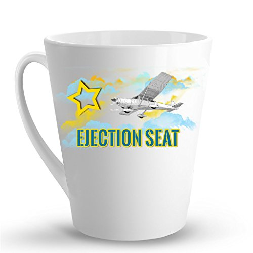 - EJECTION SEAT Aviation Pilot Mug - 12 Oz. Unique Coffee Latte Mug, Latte Cup