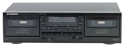 Pioneer CT-W205R Dual-Well Auto-Reverse Cassette Deck (Dolby B/C) (Discontinued by Manufacturer) (Reverse Player With Auto Cassette)