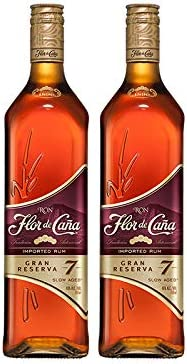Ron Flor de Caña Gran Reserva 7 años de 70 cl - D.O. Nicaragua - Bodegas Osborne (Pack de 2 botellas): Amazon.es: Alimentación y bebidas