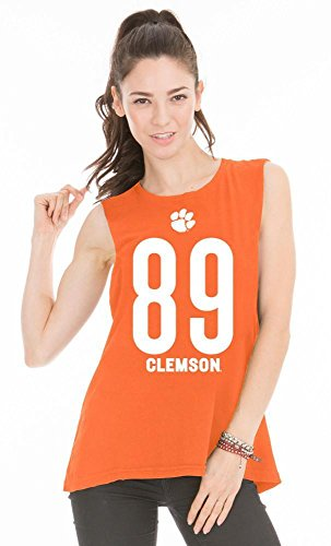 Official NCAA Venley Clemson University Tigers TIGER RAG! Women's Muscle T-Shirt (Basketball University Clemson)