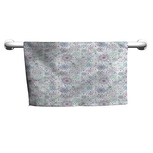 (flybeek Bath Towel Winter,Pastel Snowflakes Joyful,Beach Poncho Towel for Kids)