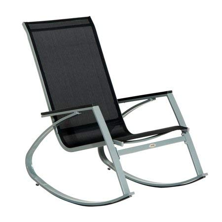 Outsunny- Sling Outdoor Modern Rocking Chair by Outsunny-