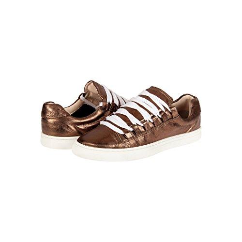 Chaussures De Sport Tedish Dames Chaussures De Marche Fille En Cuir Décontractée Confortable Lacets Flats Td004 Orabelle Chataigne Chataigne