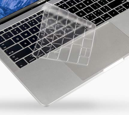 Se7enline 2018 New MacBook Air 13 inch Keyboard Cover Ultra Thin High Transparency TPU Skin Protector for MacBook Air 13-Inch with Touch ID Newest Version Model A1932, Transparent/Clear