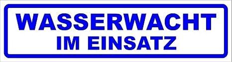 Kiwistar Magnetschild Wasserwacht Im Einsatz 30x8cm Für Kfz Und Sonstige Metalloberflächen Auto