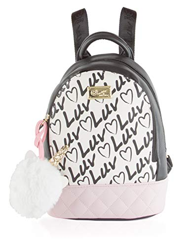 (Luv Betsey Jaz Kitsch Mid Size Logo Quilted Purse Backpack -)