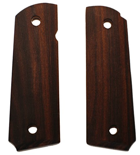 1911 Rosewood Pistol Grips Fits Full Size & Commander Colt, Sig, S&W, Springfield, Kimber, Remington in Rosewood