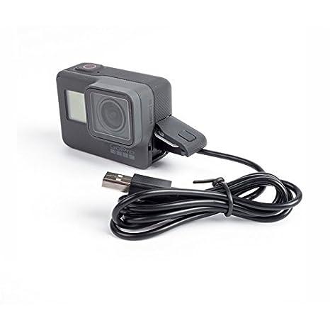 Cargador de reemplazo y cable de sincronización USB tipo C para GoPro Hero 5, y Hero 5 Black, Sesión Hero 5 marca Dragon Trading