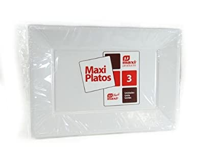 Mundigangas - Set 3 bandejas Blancas 33x22,5 cm