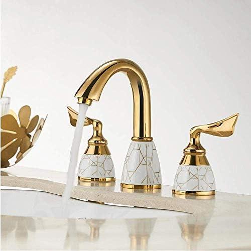 WXQ-XQ 蛇口ゴールドデッキは、ハンドシャワーとバスタブ蛇口セット3つのホール広まった浴槽ミキサー浴室グースネック風呂シャワーセットをマウント