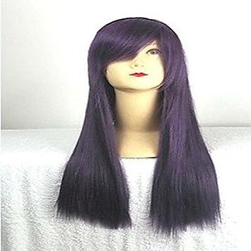 OOFAY JF® peluca cosplay púrpura con la explosión lateral de 80 cm de largo pelo